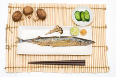 Grilled saury Stock Photos
