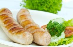 Grilled sausage Stock Photos
