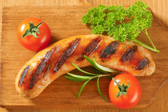 Grilled sausage Stock Photos