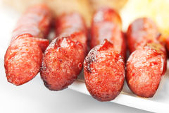 Grilled sausage collage Stock Image