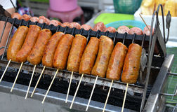 Grilled sausage Stock Photography