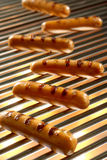 Grilled Sausage, Hot dog. Barbecue Royalty Free Stock Images