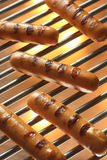 Grilled Sausage, Hot dog. Barbecue Stock Photo