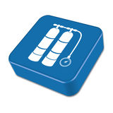 Grilled sausage icon. Vector illustration Stock Photography
