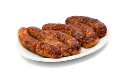 Grilled Sausage isolated Royalty Free Stock Photography