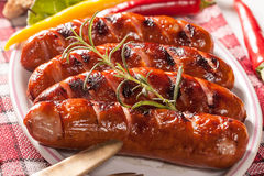 Grilled sausage. Royalty Free Stock Photos
