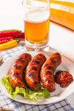 Grilled sausage. Royalty Free Stock Images
