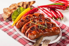 Grilled sausage. Stock Images