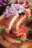 Grilled sausage sandwich Royalty Free Stock Photography