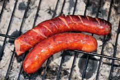 Grilled sausages Stock Photos