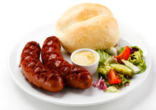 Grilled sausages Royalty Free Stock Image