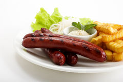 Free Grilled Sausages Stock Images - 22124324