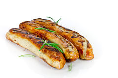 Grilled sausages royalty free stock photos