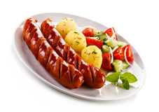 Grilled sausages Stock Photo