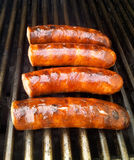Grilled sausages. Sausage on the grill Royalty Free Stock Images