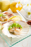 Grilled scallop Stock Photography
