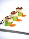Grilled scallop St.Jacques Royalty Free Stock Photography