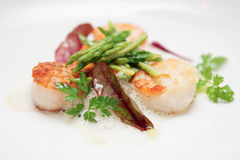 Grilled scallops Royalty Free Stock Photos