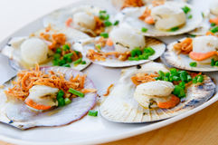 Grilled scallops, shallow focus Stock Photography