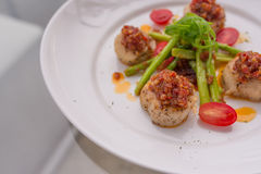 Grilled scallops Royalty Free Stock Photography