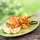 Grilled scampi Royalty Free Stock Photos