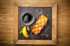Grilled Scottish salmon Royalty Free Stock Photos