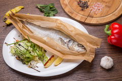 Grilled Sea Bass Fish Royalty Free Stock Image