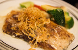 Grilled sea bass Stock Image