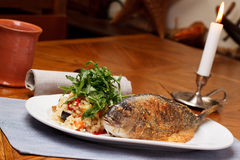 Grilled Sea Bream Stock Photo