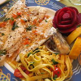 Grilled sea bream Stock Photography