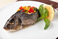 Grilled Sea Bream Royalty Free Stock Photo
