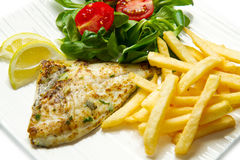 Grilled sea bream Stock Image