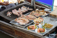 Grilled Sea Food Royalty Free Stock Image