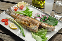 Grilled seabass Royalty Free Stock Images