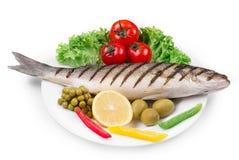 Grilled seabass fillet Stock Image