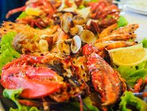 Grilled seafood royalty free stock photography