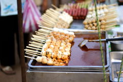 Grilled seafood. Royalty Free Stock Image