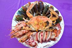Grilled seafood Royalty Free Stock Images