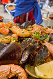 Grilled seafood - parrillada de marisco Royalty Free Stock Photo