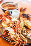 Grilled seafood platter Royalty Free Stock Image