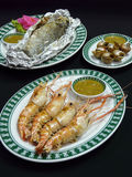 Grilled seafood set menu Royalty Free Stock Photography