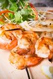 Grilled seafood skewers Royalty Free Stock Image