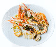 Grilled seafood. Royalty Free Stock Images