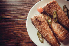Grilled shad with tomato Stock Photography