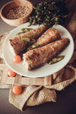 Grilled shad with tomato Royalty Free Stock Photography