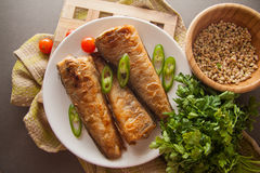 Grilled shad with tomato Stock Photos