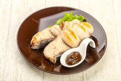 Grilled shark steak royalty free stock photography