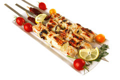 Grilled  shish kebab Stock Images