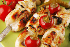 Grilled shish kebab Stock Image