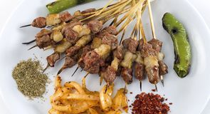 Grilled shish kebab Stock Photos